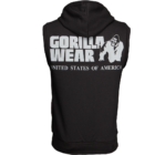 Gorilla Wear Springfield Sleeveless Zipped Hoodie (fekete)