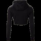 Gorilla Wear Pixley Crop Top Hoodie (fekete)
