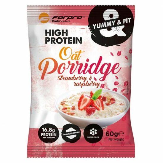 Forpro High Protein Oat Porridge - Eper-málna íz (20 x 60g)