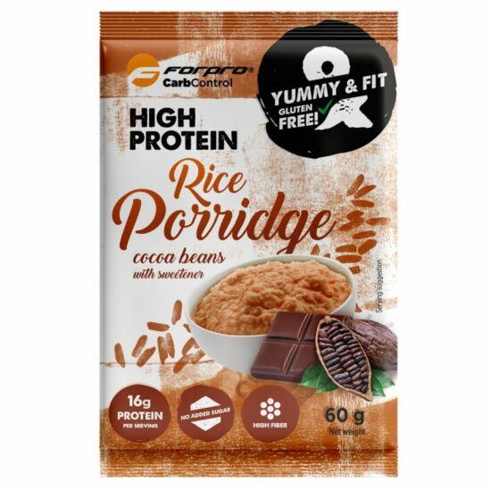 Forpro High Protein Rice Porridge (rizskása) - Kakaó íz (20 x 60g)