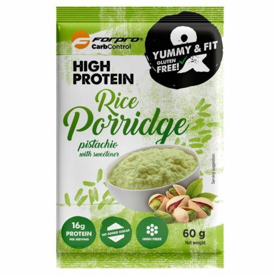 Forpro High Protein Rice Porridge (rizskása) - Pisztácia íz (20 x 60g)