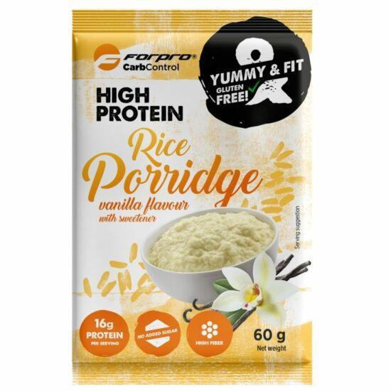 Forpro High Protein Rice Porridge (rizskása) - Vanília íz (20 x 60g)