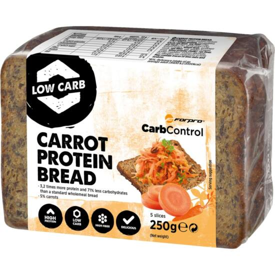 Forpro Protein Bread Carrot (9 x 250g)