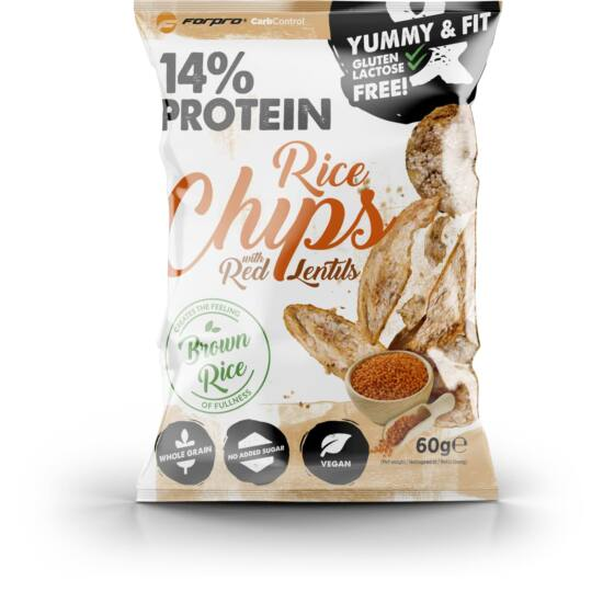 ForPro Protein Rice Chips with Red Lentils (18 x 60g)