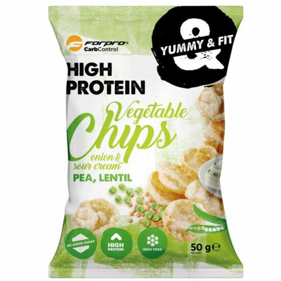 ForPro Protein Vegetable Chips (hagymás-tejfölös) (15 x 50g)