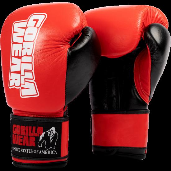 Gorilla Wear Ashton Pro Boxing Gloves (piros/fekete)