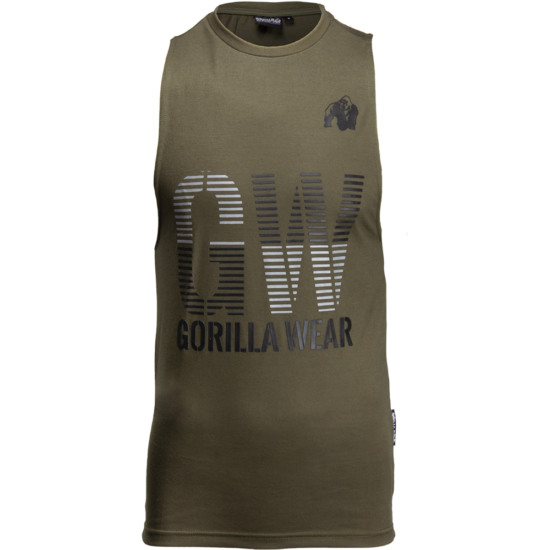 Gorilla Wear Dakota Sleeveless T-Shirt (army zöld)