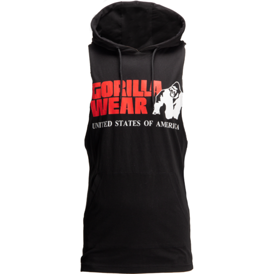 Gorilla Wear Rogers Hooded Tank Top (fekete)