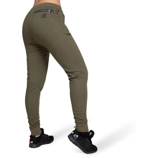 Gorilla Wear Celina Drop Crotch Joggers (army zöld)