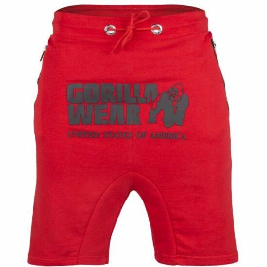 Gorilla Wear Alabama Drop Crotch Shorts (piros)