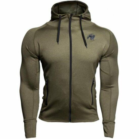 Gorilla Wear Bridgeport Zipped Hoodie (army zöld)