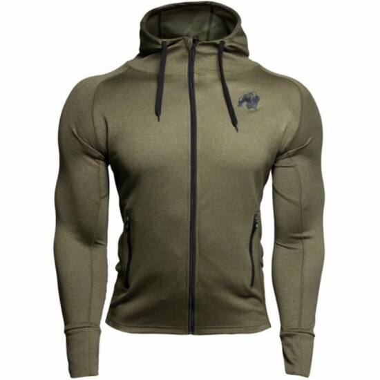 Gorilla Wear Bridgeport Zipped Hoodie (army zöld)