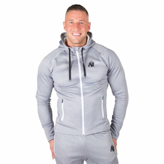 Gorilla Wear Bridgeport Zipped Hoodie (ezüst)