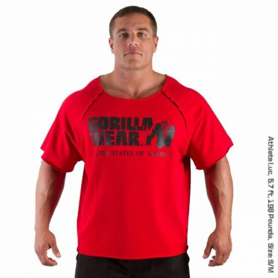 Gorilla Wear Classic Work Out Top (piros)
