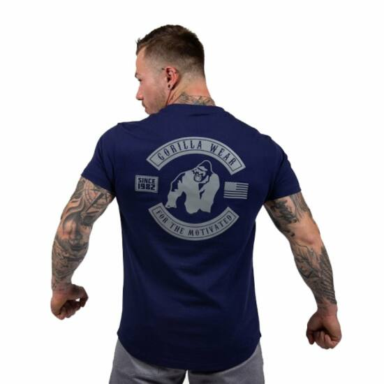 Gorilla Wear Detroit T-shirt (navy kék)