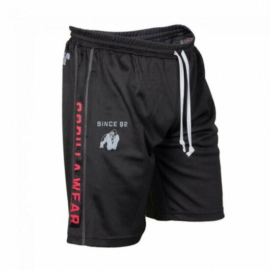 Gorilla Wear Functional Mesh Shorts (fekete/piros)