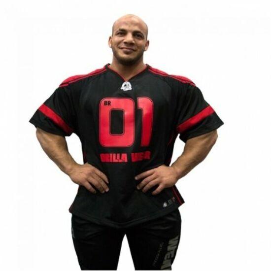 Gorilla Wear Gw Athlete T-Shirt Big Ramy (fekete/piros)