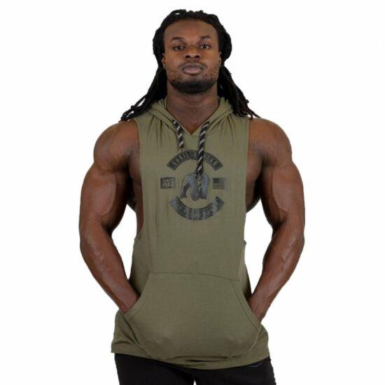 Gorilla Wear Lawrence Hooded Tank Top (army zöld)