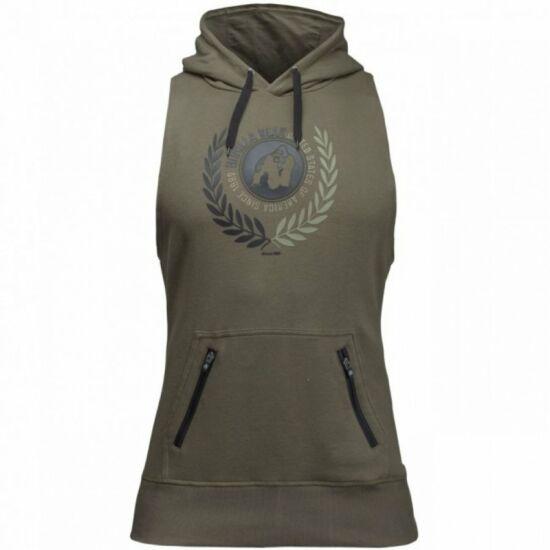 Gorilla Wear Manti Sleeveless Hoodie (army zöld)