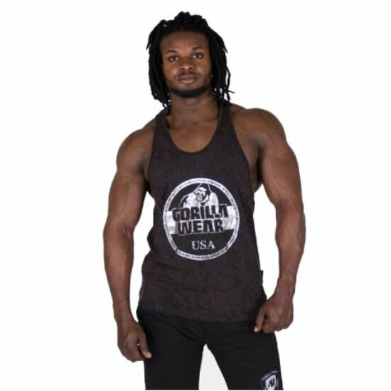 Gorilla Wear Mill Valley Tank Top (fekete/barna/ezüst)