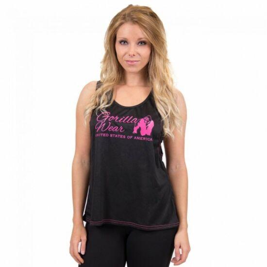 Gorilla Wear Odessa Cross Back Tank Top (fekete/pink)