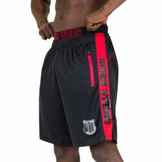 Gorilla Wear Shelby Shorts (fekete/piros)
