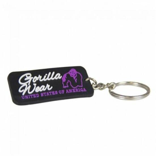 Gorilla Wear Gw Rubber Women Logo Keychain (fekete/lila)