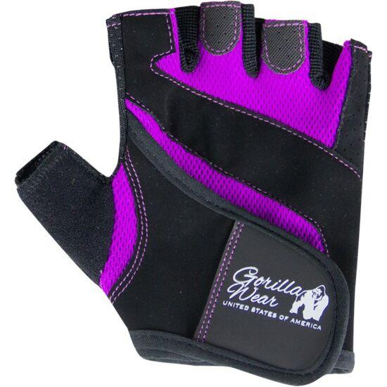 Gorilla Wear Womens Fitness Gloves (fekete/lila)