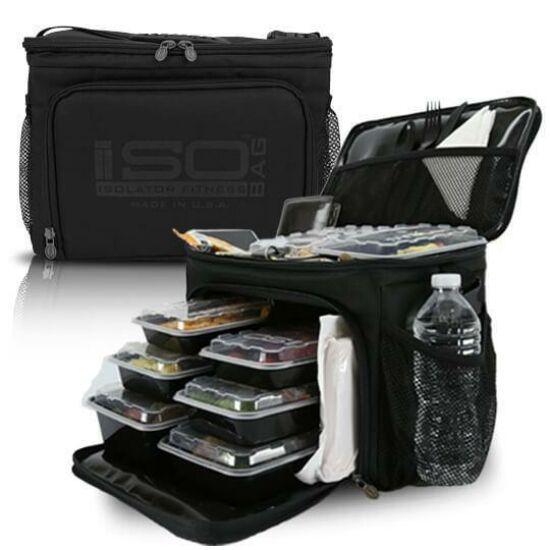 Isolator Fitness ISOCUBE 6 MEAL (fekete)