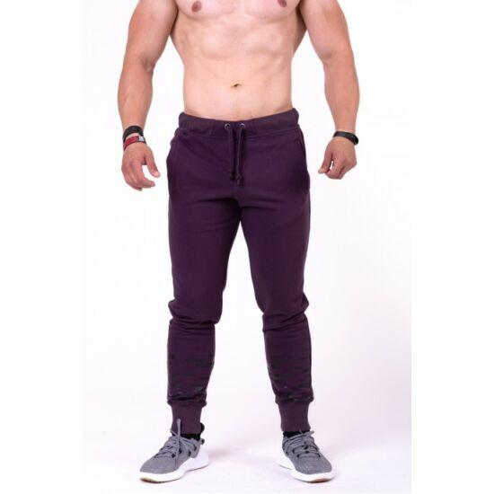 NEBBIA Gym Hero melegítő nadrág 153 (Burgundi)