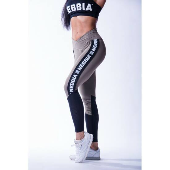 NEBBIA High Waist Mesh női leggings 601 (Mocha)