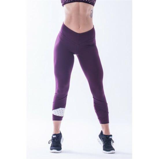 NEBBIA Asymetrical 7/8 női leggings 639 (Burgundi/vanília)