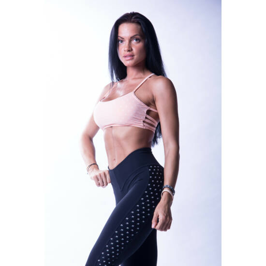 "NEBBIA ""N""s Fitness női sportmelltartó 647 (Lazac)"
