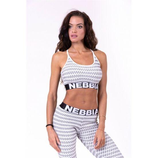 NEBBIA Boho Style 3D pattern mini top 659 (Halványszürke)