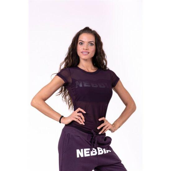 NEBBIA Flash-Mesh trikó 665 (Burgundi)