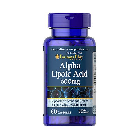 Puritans Pride Alpha Lipoic Acid 600mg (60 kapszula)