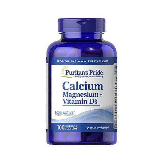 Puritans Pride Calcium Magnesium + Vitamin D3 (100 kapszula)