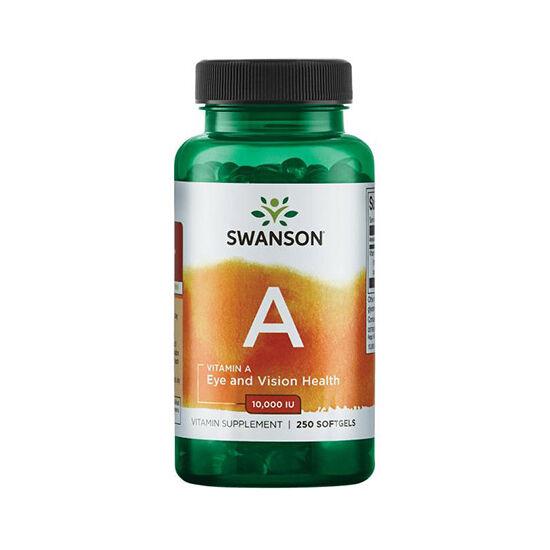 Swanson Vitamin A 10000IU (250 lágykapszula)