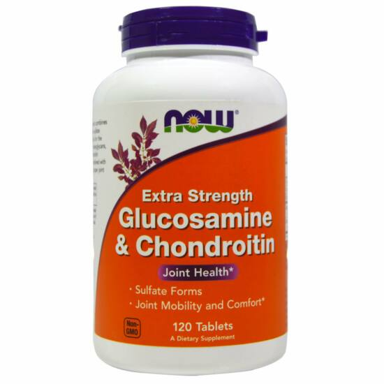 NOW Foods Glucosamine & Chondroitin Extra Strength (120 tabletta)