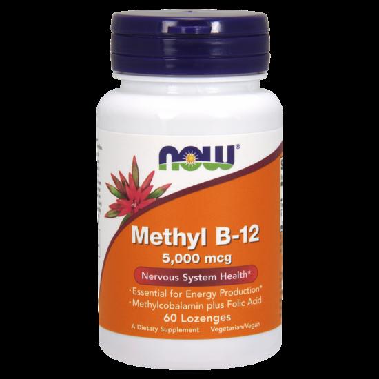 NOW Foods Methyl B-12 5000mcg (60 szopogató tabletta)