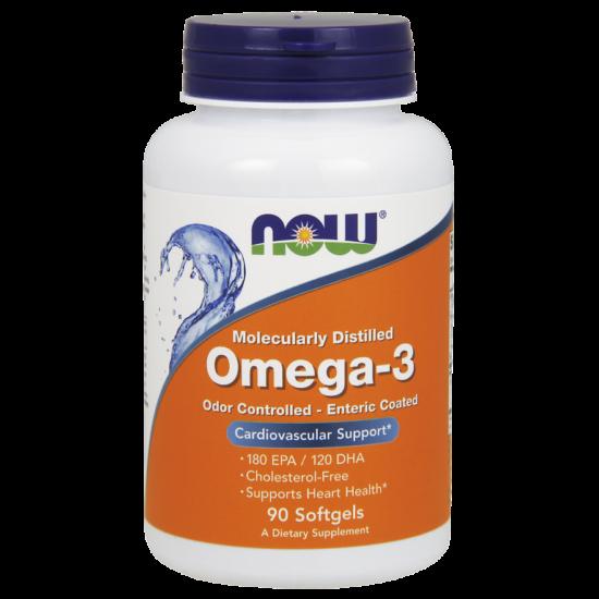 NOW Foods Omega-3 Enteric Coated (90 lágy kapszula)