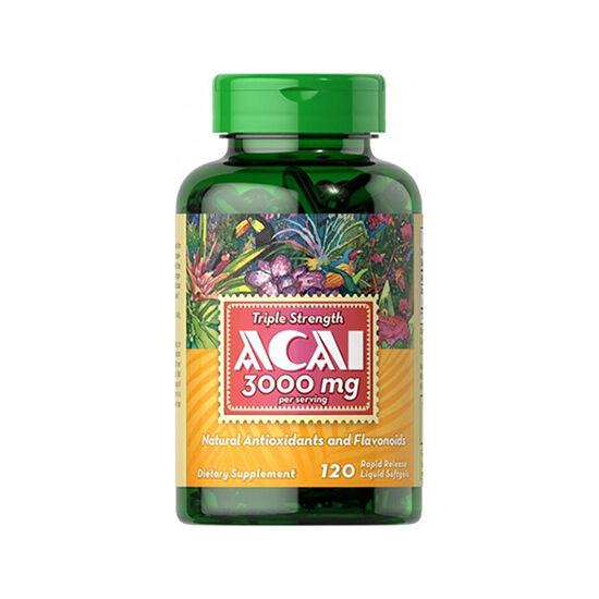 Puritans Pride Acai 3000 mg (120 lágy kapszula)
