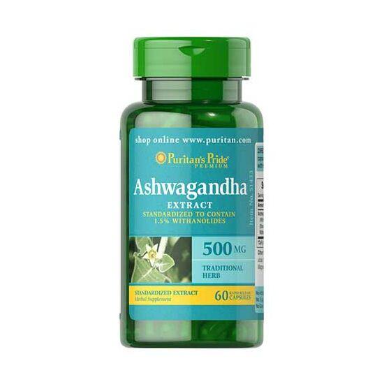 Puritans Pride Ashwagandha Extract 500mg (60 kapszula)