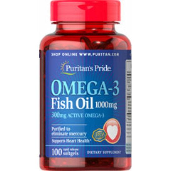 Puritans Pride Omega-3 Fish Oil 1000mg (100 lágy kapszula)