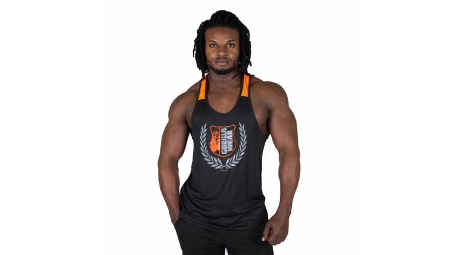 09577419fa Gorilla Wear Lexington Tank Top (fekete/narancs) - Gorilla Wear ...